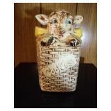 Lamb in a Basket Cookie Jar by McCoy - 10 inches