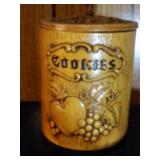 """""""Cookies"""" Cookie Jar by Treasure Craft - 10 inches"""