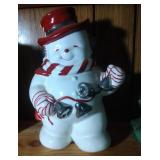 Snowman (with bells) Cookie Jar by Home - 11 inch
