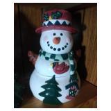 4 part Snowman Cookie Jar - 11 inches