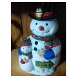 Snowman & Son Cookie Jar by Blizzard & Co. - 12 in