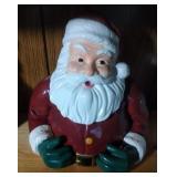 bust of Santa Cookie Jar by Vigor - 11 inches