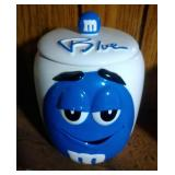 Blue M&M Cookie Jar by Galerie - 7.5 inches
