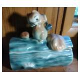 Chipmunk on a log Cookie Jar - 10.5 long and 11