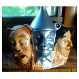 Cowardly Lion, Scarecrow and Tin Man Cookie Jar
