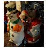 lot of lighted lawn ornaments - Snowman (43 inch),