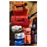 Gas cans, oil & more - 4 gas cans, 7 oil container