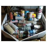 large box of vintage beer cans - steel & aluminum