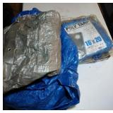 lot of 3 tarps, one new 16 ft by 20 ft
