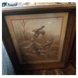 4 wall hangings - Pheasants, Bluebird & Mailbox,