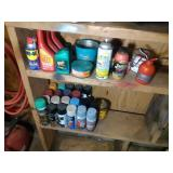 lot of shop supplies- WD40, spray paint, 2 stroke