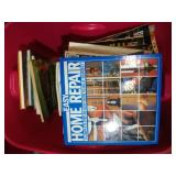 large tote of DYI, home repair guides and more