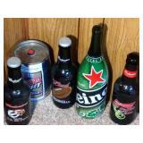 lot of 4 tall beer bottles & Coor Light Mini Keg -