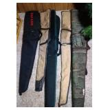 lot of 5 gun case - longest is 53+ inches