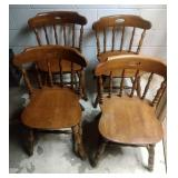 4 kitchen table chairs - 30 inch at back