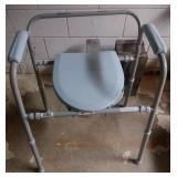 Medline bedside toilet with adjustable seat