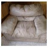 over stuffed brown chair - 54 inch wide by 40 inch