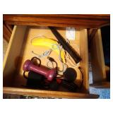 contents in triple dresser - free weight, trinket