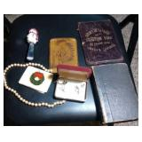 lot of vintage wallets, costume jewelry, French
