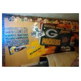 contents on South wall - ticket stubs, football