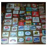 coffee table with coasters, beer labels & bar