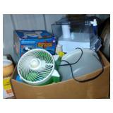 large box of Brita Water Filter pitcher, fan,
