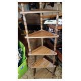 lot of 5 shelves - 5 shelf corner piece (58 inch)