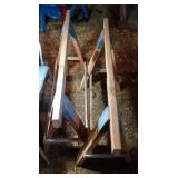 2 saw horses - 48 inch long by 30 inch tall &