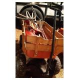 wagon with contents - wagon is 33 inch by 16