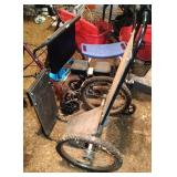 wood cart / dolly - 44 inch tall by 26 inch wide