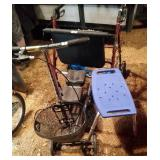 Knee scooter, shower seat and 26 inch wide