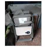 2 captains chairs, collapsible table, card table,&