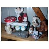 large lot of yard ornaments - mostly resin - gnome