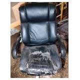 large swivel desk chair - 24 inch wide seat