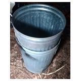 2 galvanized 20 gallon garbage cans