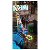 glass / metal yard ornaments - double pinwheel,