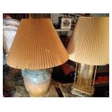 pair of lamps - tallest is 29 inches