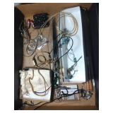 flat of costume jewelry - pendants, necklaces,