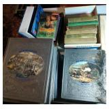 3 stacks of books - Harry Potter, Bobsey Twins,
