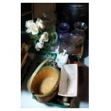 2 flats of decor - including McCoy, green pitcher,