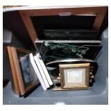 tote of picture frames