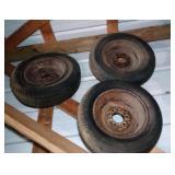 3 tires and rims - 6 bolt holes