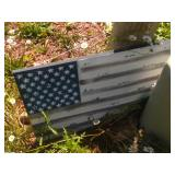 tin flag sign - 2 foot by 3 foot