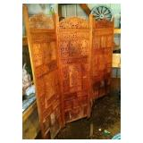 4 panel wood decorative screen - 72 inch x 80 inch