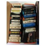 two flats of 8 track tapes