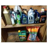 lot of shop supplies - deicer, weed B gone, motor