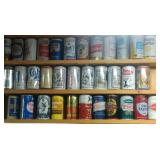 beer can collection - Iron City Draft and more