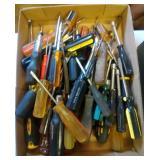 flat of screwdrivers