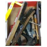 flat of hack saw, coping saw, wire brushes