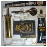 muzzle loader kit, unopened shot and wad
